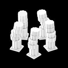 columns on DELIRIUM LAB / columns Black and White 3d delirium-lab krikrak artist on tumblr a long time ago