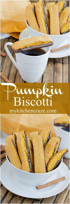Pumpkin Biscotti ~ Better than any treat you'll get at your local coffee shop, this decadent and fall inspired treat will be a winner in your home. Make sure to make a cup of coffee or tea with it. They pair perfectly together! (Holiday Baking Goods)