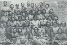 Polish Girl Scouts in Persia (Iran) in 1943. Their families had been exiled to Siberia at the start of WW2. An amnesty was later announced and the families fled south to meet up with other Poles to form a southern army. Some of these girls would later be living in Africa.  Do please read the website this photo came from. It's a part of WW2 history