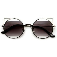 Round Cat Eye Sunglasses in Silver | zeroUV $6.95 USD (on sale for)