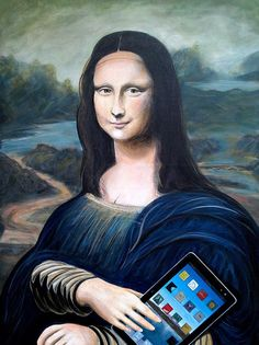 Mona Lisa with ipad [John Lyes] (Gioconda / Mona Lisa)