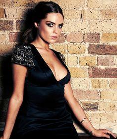 Black Stretch Satin Embellished Shoulder Dress http://www.loveitsomuch.com