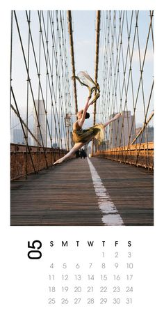 2014 Calendar Ballerina dance Photography, Brooklyn Bridge by annawuphoto on Etsy. Gift idea.