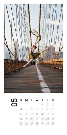 2014 Calendar Ballerina dance Photography, Brooklyn Bridge by annawuphoto on Etsy. Gift idea.
