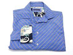 Robert Graham XL Men's Long Sleeve Button Front Men's Blue Stripe Shirt #RobertGraham #ButtonFront