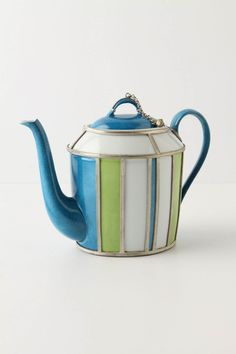 Limoges porcelain Morrocan-inspired Bayadere Teapot, $398 at Anthropologie--price is ridiculous, aesthetic is fabulous