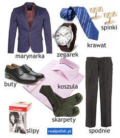Learn Polish, Polish Language, Polish Recipes, Speech And Language, Grammar, Education, Learning, Clothes, Languages