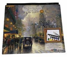 Paint By Number Kit Thomas Kinkade Painter Of Light 11 New York Avenue List Of Paintings, Paint By Number Kits, Thomas Kinkade, 5th Avenue, Rose Art, Cross Stitch Kits, Light Painting, Paint Brushes, Numbers