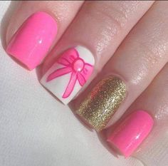 bows and gold glitter