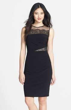 Love the Xscape Lace Illusion Jersey Sheath Dress on Wantering.