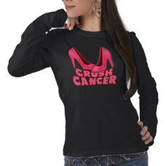 Crush Cancer with Stilettos Shirt #breastcancerawareness #BreastCancer #pinkribbon #survivor