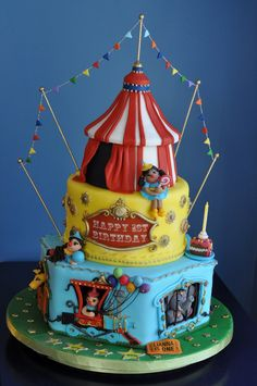 Adorable circus cake -- So many details!