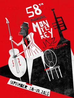 Monterey Jazz Festival Poster by ivan on CreativeAllies.com
