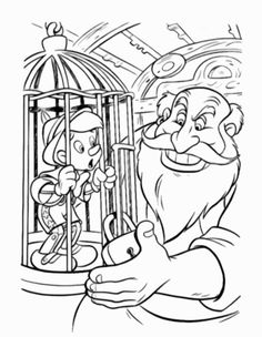Pinocchio Coloring Pages Super Coloring Pages, Disney Coloring Pages, Mandala Coloring Pages, Colouring Pages, Printable Coloring Pages, Adult Coloring Pages, Coloring Books, Pinocchio, Disney Paintings