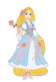 Rapunzel in her new beautiful dress Disney Princess Fashion, Disney Princess Rapunzel, Disney Princess Drawings, Disney Tangled, Disney Style, Disney Love, Disney Fashion, Disney Princesses, Ribbon Dance