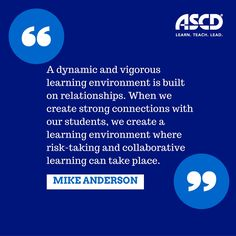 Create a learning environment for risk-taking and collaborative learning.