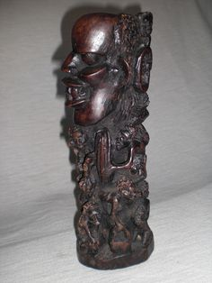 Alte afrikanische Holzskulptur Makonde Lebensbaum african wood sculpture 60er