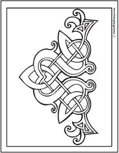 Embroidery Pattern Fuzzy's Celtic Designs: Patrick Celtic Coloring - Fuzzy has scores of Irish and Scottish Celtic coloring pages with Celtic knot designs - the coolest tangles. Celtic Symbols, Celtic Art, Celtic Dragon, Celtic Knots, Celtic Mandala, Celtic Crafts, Mayan Symbols, Egyptian Symbols, Ancient Symbols