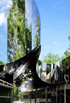 Cairns Botanic Gardens Visitors Centre, situated in the midst of the rainforest in Far North Queensland, Australia