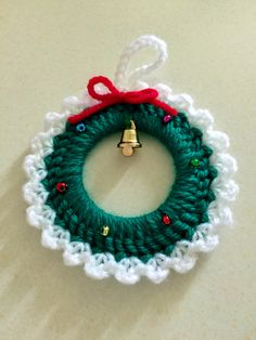 Ravelry: Project Gallery for Christmas Wreath Ornament pattern by Amy Sobush