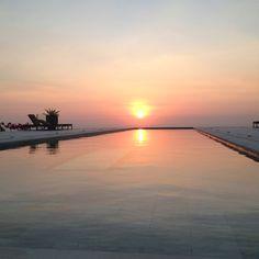 Bali villa at sunset
