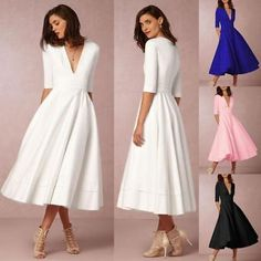 Women Ladies Vintage Gown Prom Cocktail Evening Party Big Swing Long Maxi Dress