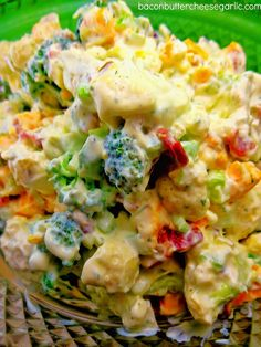 Bacon, Butter, Cheese & Garlic: Broccoli & Cauliflower Salad...great for Easter!
