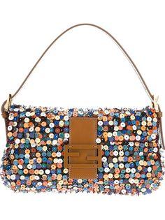 FENDI Multicolor Beaded and Sequined Baguette Designer Handbags Online, Designer Bags, Potli Bags, Fendi Bags, Fendi Purses, Beaded Bags, Woven Bags, Vintage Purses, Small Bags