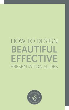 Presentations aren't just for conferences. They are a great way to create useful…