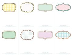 """Well, I've got another free printable for you! ...featuring pretty """"hand drawn"""" looking borders with lots of polka dots and gingham :) I..."""