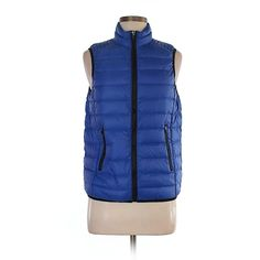 Pre-owned Fabletics Vest Size 8: Blue Women's Jackets & Outerwear (38 BGN) ❤ liked on Polyvore featuring outerwear, vests, blue, blue vest, vest waistcoat and blue waistcoat