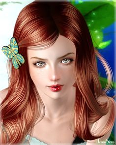 Butterfly earrings and hair accessory by Jennisims - Sims 3 Downloads CC Caboodle