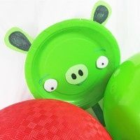 Angry Birds Green Pig puppet craft kidsparties123