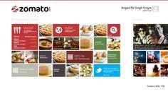 Zomato Windows 8 App by Angad Kingra, via Behance