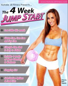 4 weeks of meal planning and workouts with me! http://Nataliejillfitness.com/4-week-jump-start/