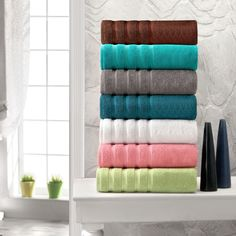 Shop for Antalya Collection Thick Soft 600 GSM Turkish Cotton 12 piece Towel Set. Get free delivery On EVERYTHING* Overstock - Your Online Bath Linens Store! Bath Linens, Bath Towels, Hotel Collection Towels, Bathroom Towel Decor, Bathroom Ideas, Turkish Cotton Towels, Linen Store, Hand Towel Sets, Terry Towel