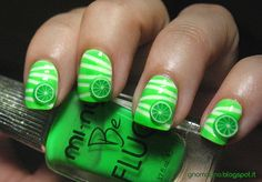 NEON LIGHTS Mi-Ny - Fluo Green + white base + lime fimo slices