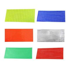 Fluorescent MTB Bike Cycling Motorcycle Wheel Rim Reflective Stickers 6 Colors