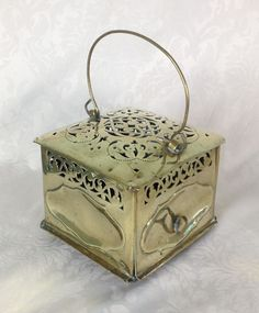 Lovely mid-18th century Dutch brass carriage foot warmer with carrying handle. It has a brass latch-toggle to open the hinged door to insert your hot coals and sits on 4 bun feet. | eBay!