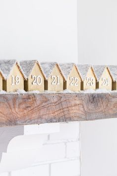 DIY Wooden Houses Advent Calendar