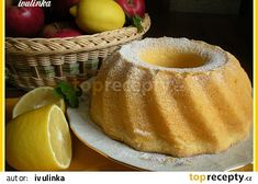 Babiččina třená bábovka recept - TopRecepty.cz Pancakes, French Toast, Pudding, Breakfast, Desserts, Food, Lemon, Breakfast Cafe, Tailgate Desserts