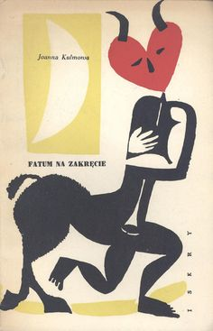 """Cover design: Janusz Stanny. """"Fatum na zakręcie"""" (possibly """"On the Cusp of Doom"""" in English), by Joanna Kulmowa. (Wydawnictwo Iskry, Warszawa, 1957.)"""