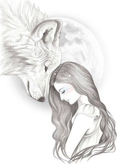 Harvest Moon by Andrea Hrnjak Art and design beautiful female illustrations cool drawings iconoCero Cool Art Drawings, Pencil Art Drawings, Art Drawings Sketches, Animal Drawings, Easy Drawings, Fantasy Drawings, Realistic Drawings, Save Animals Drawing, Drawings Of Fairies