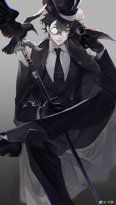 Dark Anime Guys, Cool Anime Guys, Hot Anime Boy, Handsome Anime Guys, Anime Boys, Fantasy Art Men, Anime Fantasy, Fantasy Books, Chica Anime Manga