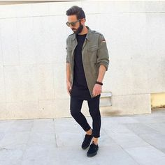 Khaki & Black