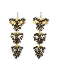 Gold filigree earrings with Spinels Orecchini in Oro in filigrana con Spinelli loredanamandas.com