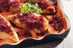 Cranberry Roast Chicken and Sweet PotatoesTry this tasty recipe from Ocean Spray.