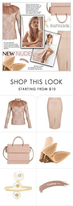 """All In Nudes"" by shambala-379 ❤ liked on Polyvore featuring Bella Freud, River Island, Givenchy, Cape Robbin, Anissa Kermiche and Topshop"