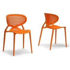 Baxton Studio Neo Dining Chair - Set of 2 - DC-789A-ORANGE