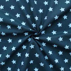 #stars Sterne Stoff dunkelblau
